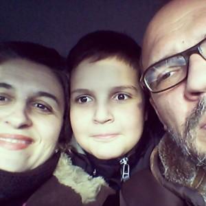 Danijela u najlepšem društvu, sa sinom i mužem, privatna arhiva