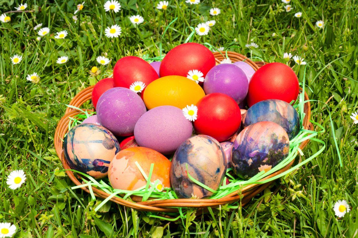 Šarena vaskršnja dekoracija i u bašti